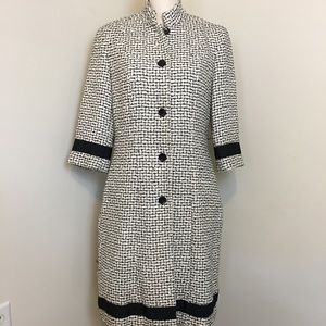 MODA International size 10 midi length dress coat